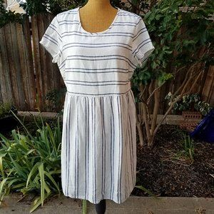 Old Navy Striped Cream Dress